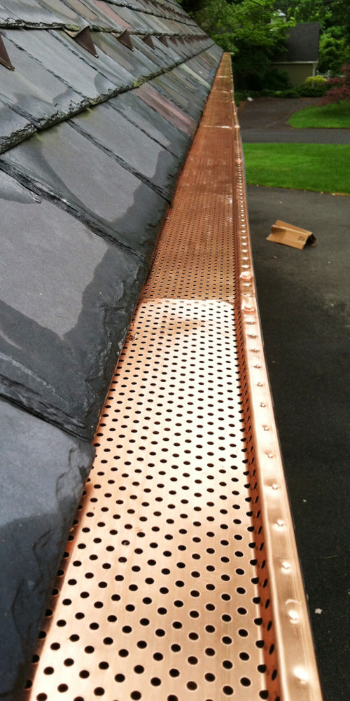 Copper Gutter Cover - NorthStar Seamless Gutters